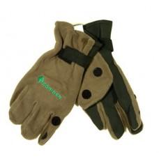 Перчатки неопреновые с флисом 3 откидных пальца