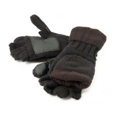 Рукавицы-перчатки вязанные TR 1064 с обрез. пальцами с флисом тёмн.