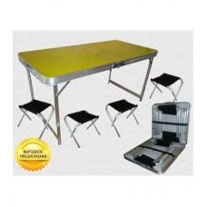 Стол складной Tramp TRF-035 + 4 стула набор